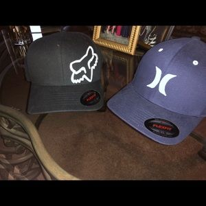 Fox and Hurley hat bundle